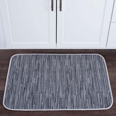 Tayse Striatum Contemporary Abstract Anti-FatigueComfort Kitchen Mat