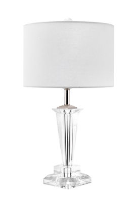 "Watch Hill 22"" Daphne Crystal & Iron Linen Shade Table Lamp"