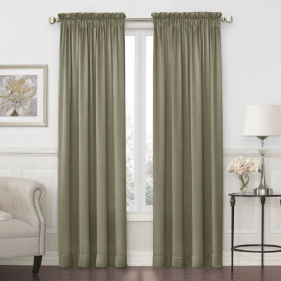 JCPenney Home Hilton Light-Filtering Rod-Pocket Single Curtain Panel