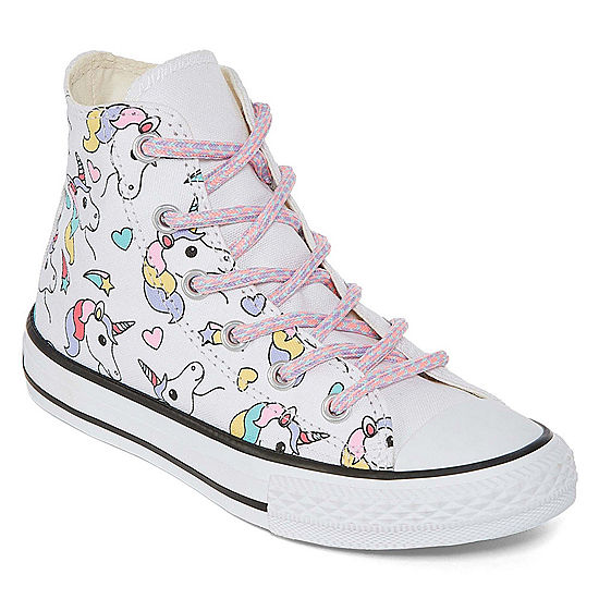 4fb2360ac2580e Converse Chuck Taylor All Star Hi Rainbow Unicorn Lace-up Sneakers Unisex  Kids - JCPenney