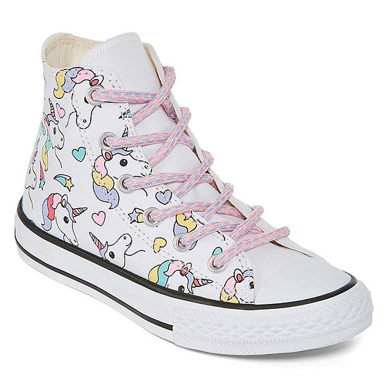 58e0c83ab5cea0 Converse Chuck Taylor All Star Hi Rainbow Unicorn Lace-up Sneakers Unisex  Kids - JCPenney