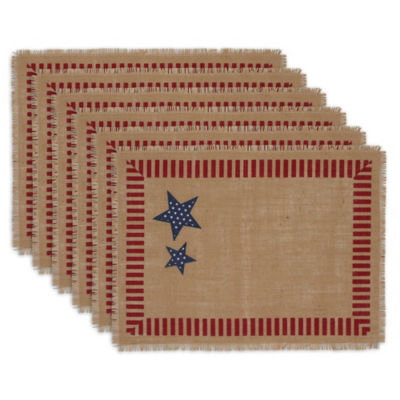 Design Imports July Stars Embellished Placemat Set of 6