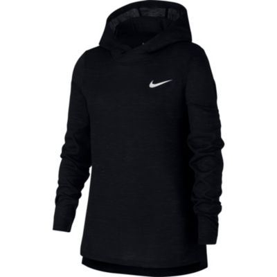 Nike Long Sleeve Hooded Neck T-Shirt-Big Kid Girls