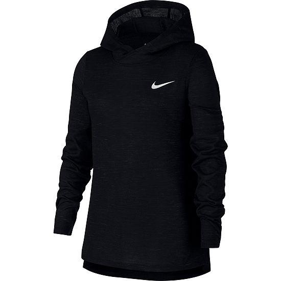 Nike Girls Hooded Neck Long Sleeve T-Shirt-Big Kid
