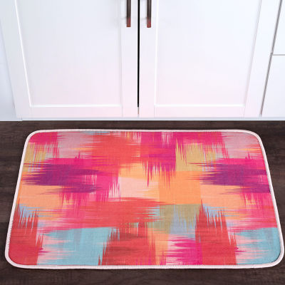 Tayse Crosshatch Contemporary Abstract Anti-Fatigue Comfort Kitchen Mat