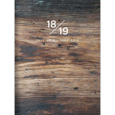 July 2018 - June 2019  Wooden Monthly Planner