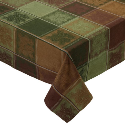 Design Imports Mountain Pine Jacquard Tablecloth