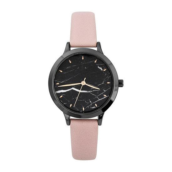 Mixit Womens Pink Strap Watch-Pt5781gnbh