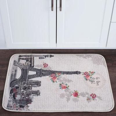 Tayse Francais Transitional Floral Anti-Fatigue Comfort Kitchen Mat
