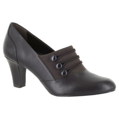 Easy Street Womens Pearl Pumps Slip-on Round Toe Cone Heel