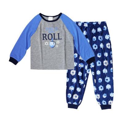 Holiday #Famjams Hanukkah 2 Piece Pajama Set - Unisex Toddler