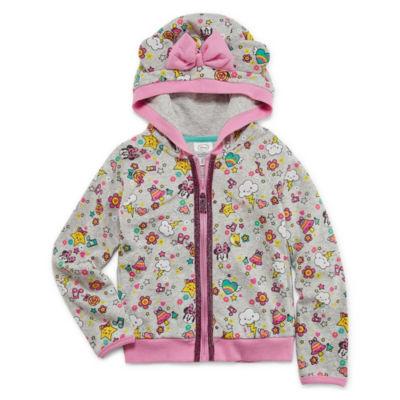 Disney Fleece Hooded Minnie Mouse Lightweight Jacket-Toddler Girls