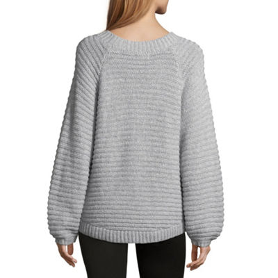 a.n.a Womens Round Neck Long Sleeve Pullover Sweater