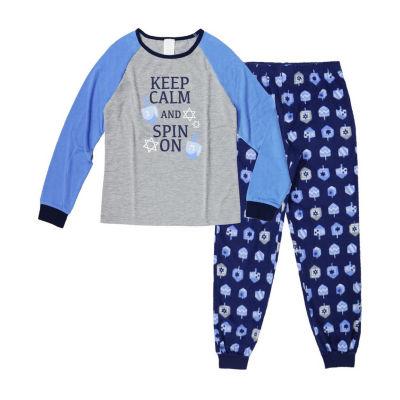 Holiday #Famjams Hanukkah 2 Piece Pajama Set - Girl's