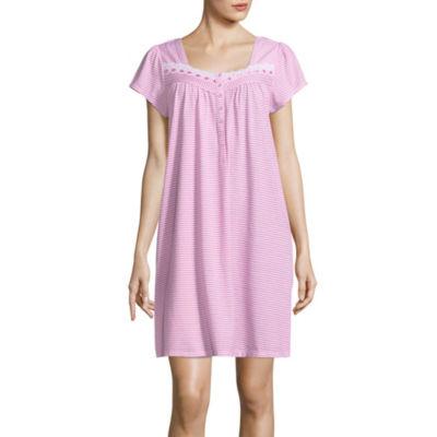 Adonna Jersey Short Sleeve Knit Nightgown
