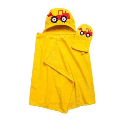 American Dawn Tub Time Tots Tractor Hooded Towel