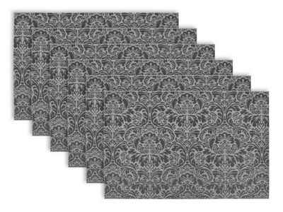 Design Imports Damask Indoor/Outdoor Placemat Set of 6