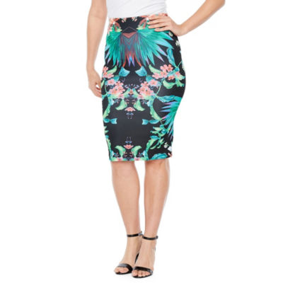 Bold Elements Scuba Pencil Skirt
