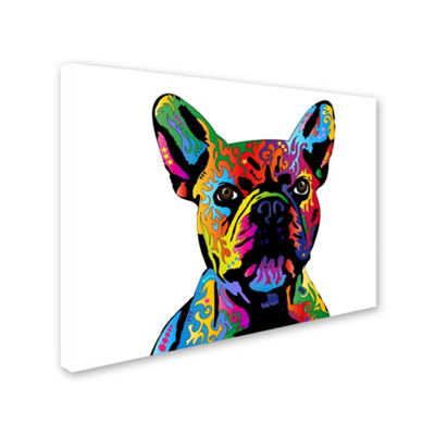 Trademark Fine Art Michael Tompsett French BulldogGiclee Canvas Art