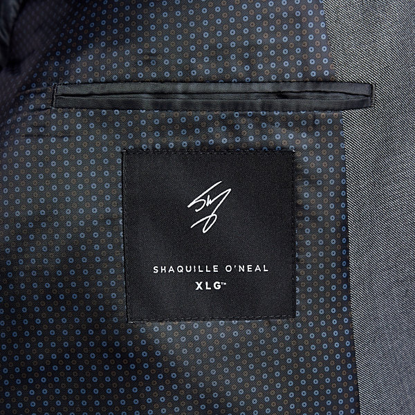 Shaquille O'Neal XLG Gray Solid Stretch Suit Jacket - Big and Tall