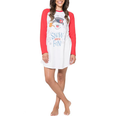 North Pole Trading Co. Frosty The Snowman Family Pajama Nightshirt - Women's