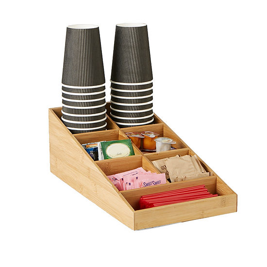 Mind Reader 7 Compartment Tea and Coffee Condiment Organizer