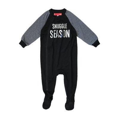 Holiday Famjams Black and Grey Fairisle 1 Piece Footed Pajama -Baby Unisex