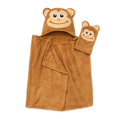 American Dawn Tub Time Tots Monkey Hooded Towel