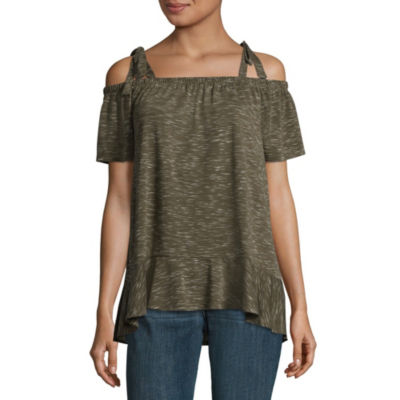a.n.a Womens Straight Neck Sleeveless Knit Blouse
