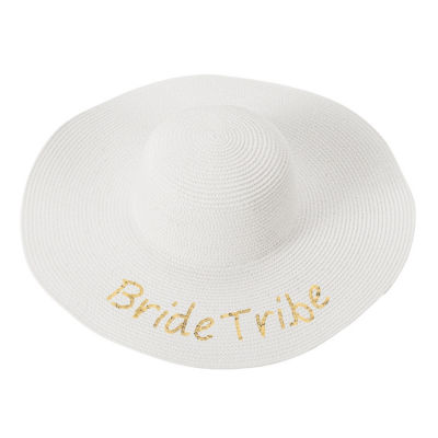Cathy's Concepts Bride Tribe Sequin Beach Hat