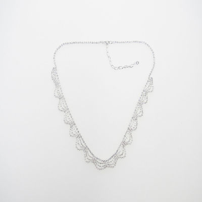 Vieste Rosa Womens Clear Brass Collar Necklace