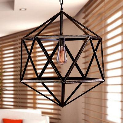 Warehouse Of Tiffany Diamond Cage 1-light Edison Lamp with Bulb