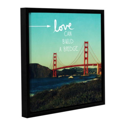 Love Can Build Floater-Framed Gallery Wrapped Canvas