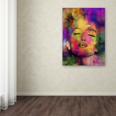 Trademark Fine Art Mark Ashkenazi Marilyn Monroe VI Giclee Canvas Art