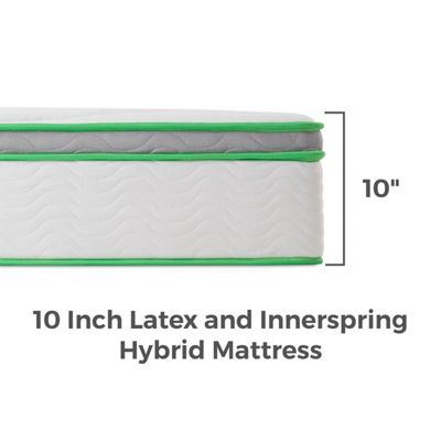Linenspa 10 in. Latex Hybrid Mattress