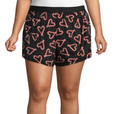 Sleep Chic Microfleece Pajama Shorts - Plus