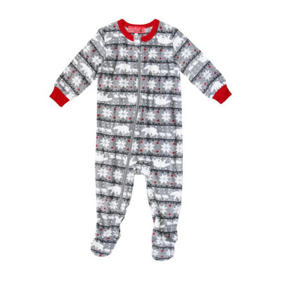 Holiday famjams Fairisle Bear 1 Piece Footed Pajama -Baby Unisex
