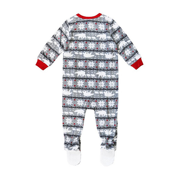 Holiday famjams Fairisle Bear 1 Piece Footed Pajama -Baby Unisex