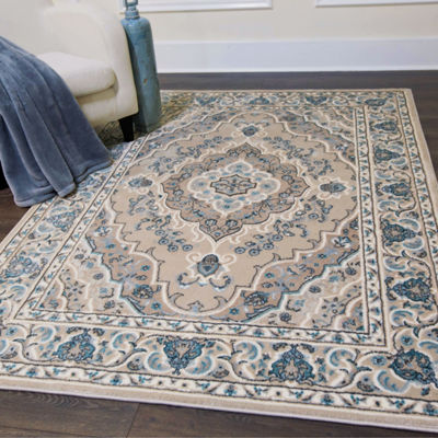 Home Dynamix Oxford Caspian Border Rectangular Rug