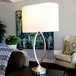 Decor Therapy Brushed Steel Table Lamp