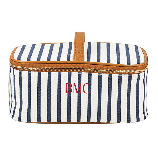 Cathys Concepts Personalized Striped Toiletry Bag