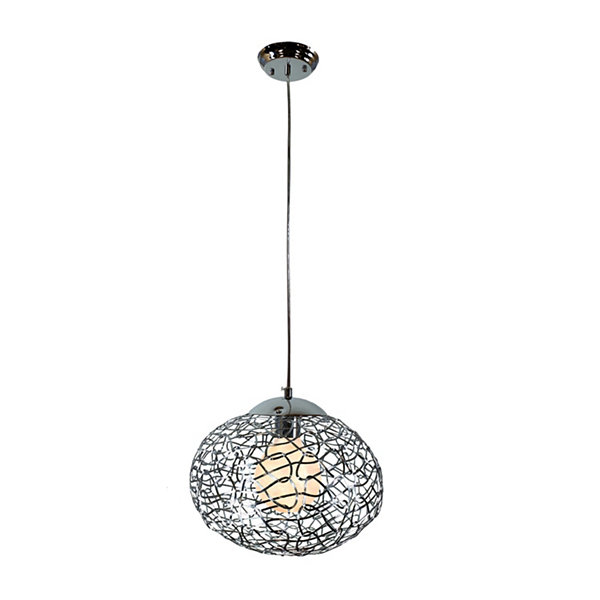 Warehouse Of Tiffany Aaliyah 1-light Chrome 12-inch Glass Pendant Lamp