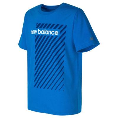 New Balance Boys Round Neck Short Sleeve Moisture Wicking Graphic T-Shirt-Preschool