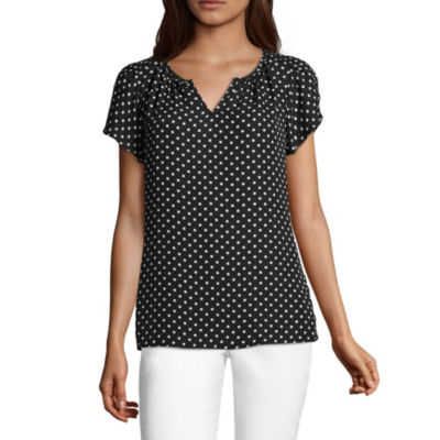 Liz Claiborne Short Sleeve Layered Top