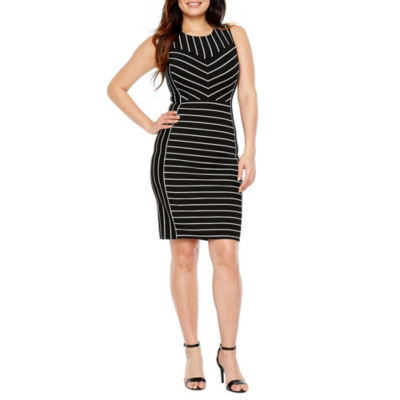Bold Elements Sleeveless Striped Dress
