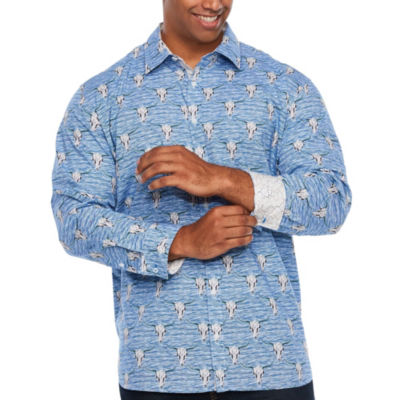 Society Of Threads Society Of Threads Long Sleeve Sport Shirts Long Sleeve Button-Front Shirt-Big and Tall