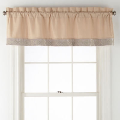 JCPenney Home Mercer Rod-Pocket Tailored Valance