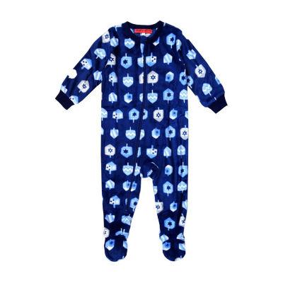 Holiday #Famjams Hanukkah 1 Piece Footed Pajama – Baby Unisex