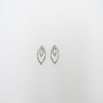Vieste Rosa Clear Brass 1 Inch Stud Earrings