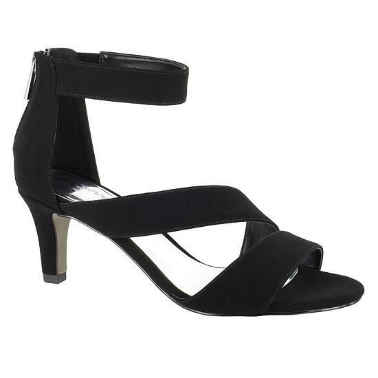 Easy Street Womens Maxi Pumps Zip Open Toe Spike Heel